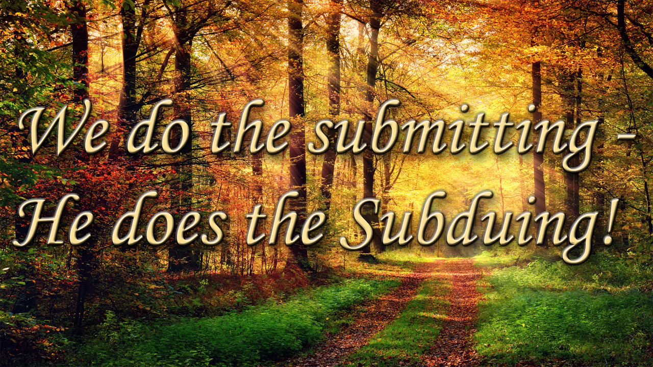 value - submit - subdue