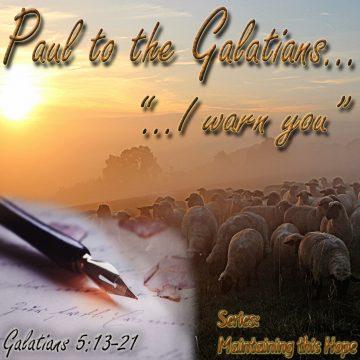 Galatians warn